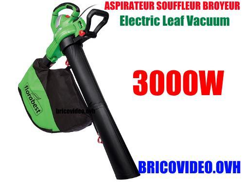 aspirateur souffleur broyeur 3000w - Florabest - 42,99 €