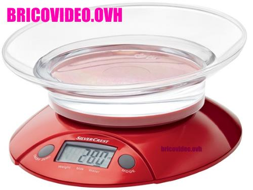 Balance de cuisine silvercrest lidl avec plateau bol test - Balance de cuisine digitale ...