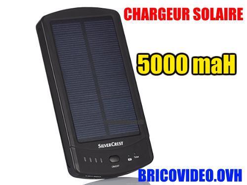 batterie solaire lidl silvercrest chargeur powerbank 5000. Black Bedroom Furniture Sets. Home Design Ideas