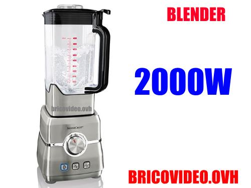 Silvercrest power blender 2000w lidl For making shakes, smoothies, baby food, cocktails, sauces, dips, soups, sorbet, etc. accessories test advice customer reviews price instruction manual technical data