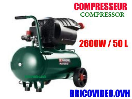 Compresseur Parkside Pko 400 B2 Lidl 400 Litres 2600 Watts