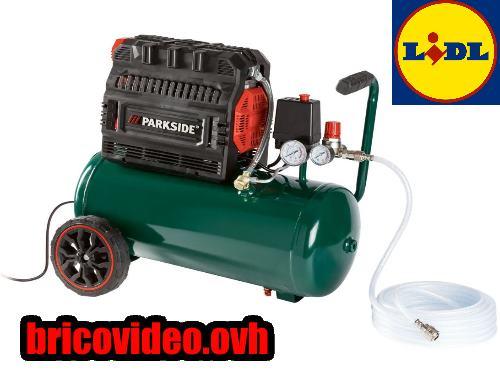 (fiche) compresseur silencieux PARKSIDE PSKO 24 Litres 1500w