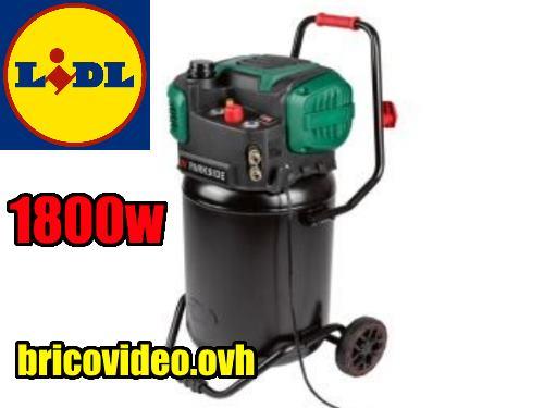 (fiche) compresseur vertical PARKSIDE PVKO 50 Litres 1800w