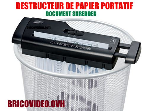 destructeur-de-papier-lidl-united-office-portatif-document-uav-190-accessoires-test-avis-prix-notice