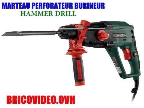 marteau-perforateur-burineur-parkside-pbh-1050-lidl-hammer-drill-test-avis-prix-notice-caracteristiques-forum