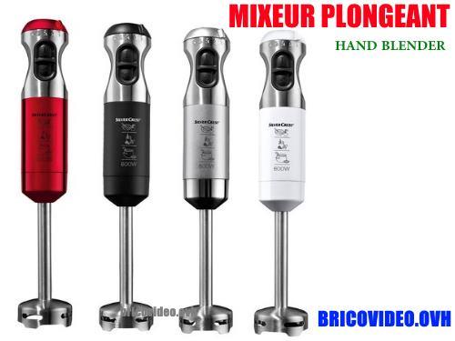 Notice mixeur plongeant silvercrest eds ssm 600 d2 lidl for Frullatore silvercrest