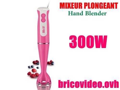 Notice mixeur plongeant silvercrest ssm 300w lidl mode d for Frullatore silvercrest