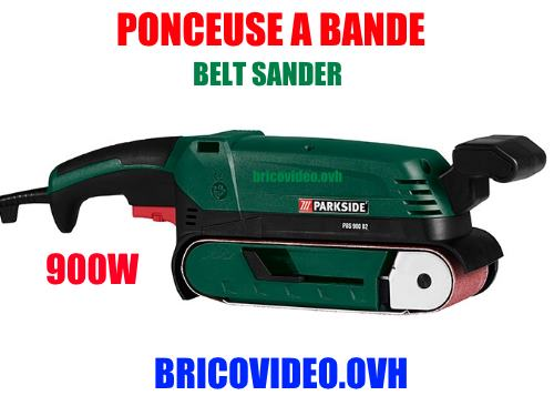 Lidl belt sander parkside pbs 900w accessories test advice customer reviews price instruction manual technical data