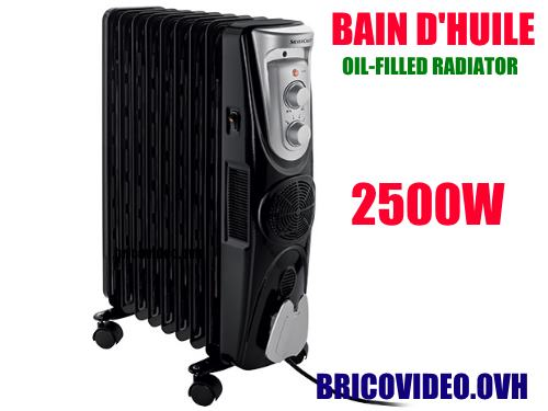 radiateur bain d 39 huile lidl silvercrest sor 2000w. Black Bedroom Furniture Sets. Home Design Ideas