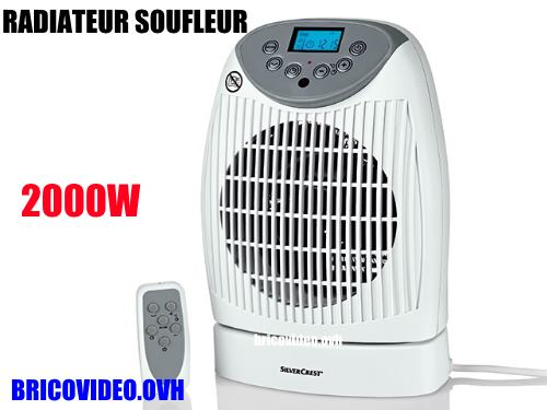 radiateur soufflant lidl silvercrest shlf 2000 b1 test avis pose notice. Black Bedroom Furniture Sets. Home Design Ideas