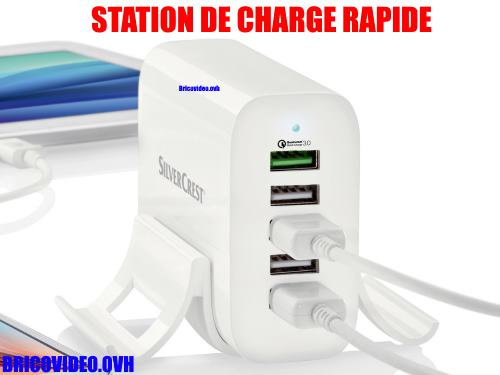 station-de-charge-usb-lidl-silvercrest-suls-5-quick-charge-test-avis-notice