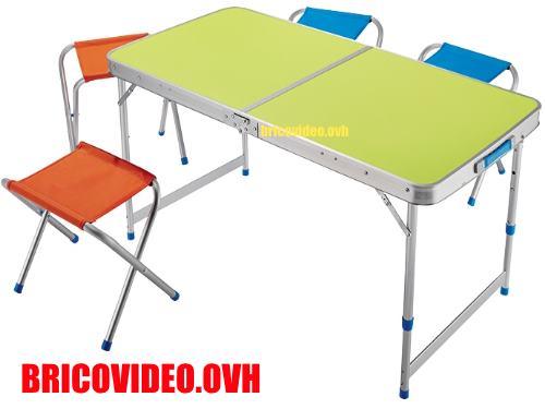 Table Pliable Avec 4 Tabourets Crivit Lidl Test Avis Prix Notice Et Caract Ristiques