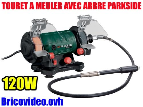touret-a-meuler-parkside-lidl-double-avec-arbre-flexible-pdfw-120w-test-avis-notice