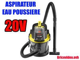 Aspirateur eau et poussière 20v - Parkside - 74,99 €