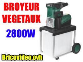 Broyeur de végétaux 2800w - Parkside - 129 €