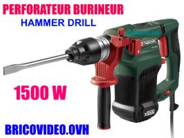 perforateur burineur 1500w - parkside - 49,99 €