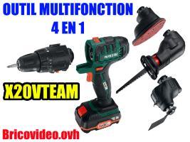 Outil multifonction 4 en 1 20v