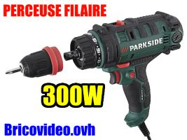 perceuse-visseuse-filaire-parkside-lidl-pns-300w-40nm-1600rpm-test-avis-notice