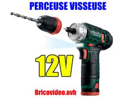 perceuse visseuse 12v double mandrin - Parkside - 34,99 €
