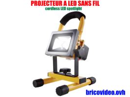 projecteur led batterie