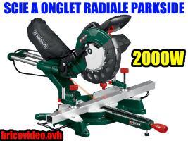 scie à onglet radiale 2000w - Parkside - 89,99 €