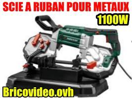scie à ruban pour métaux 1100w