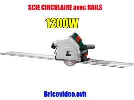 scie circulaire rail 1200w parkside