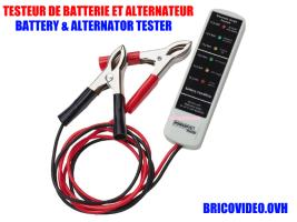 testeur de batterie ou alternateur