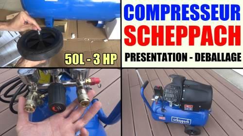 Compresseur scheppach hc52dc hc54 test avis prix notice - Compresseur black et decker 50l ...