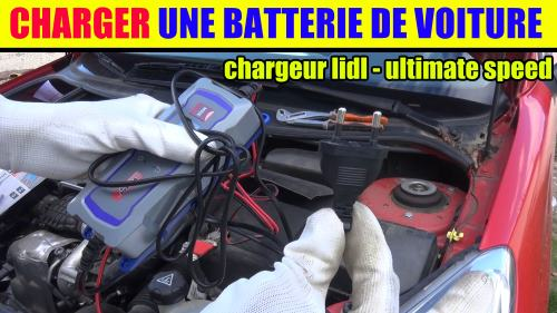 Charger une batterie de voiture - chargeur lidl ultimate speed