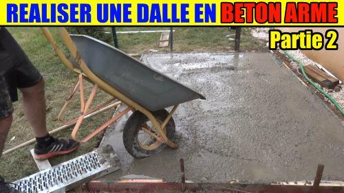 Raliser un plot en beton arm avec du bton de betonnire - Realiser une dalle beton ...
