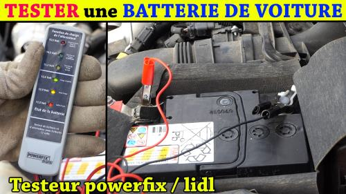 testeur de batterie lidl powerfix et alternateur de voiture pawsb 12 accessoires test avis prix. Black Bedroom Furniture Sets. Home Design Ideas