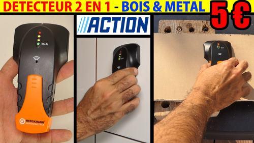 multidétecteur 2 en 1 ACTION WERCKMANN présentation et test d'un détecteur à 5 € !
