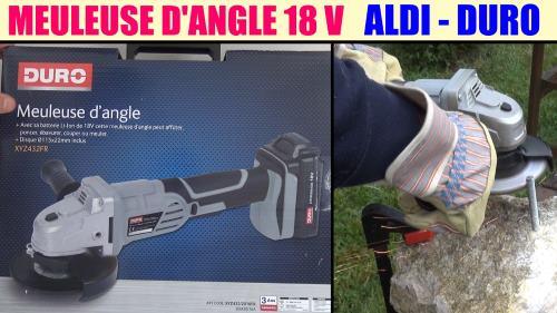 Meuleuse d 39 angle sans fil aldi duro 18v xyz432fr pour aff ter poncer bavurer couper ou meuler - Meuleuse d angle lidl ...