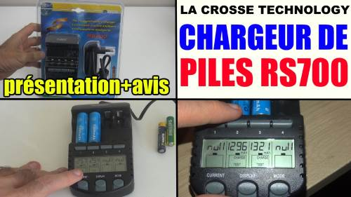 chargeur de piles la crosse technology rs700 test avis prix notice caracteristiques forum. Black Bedroom Furniture Sets. Home Design Ideas