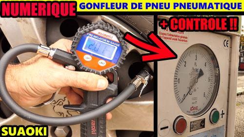 SUAOKI gonfleur de pneus pneumatique numérique air comprimé 10 BAR