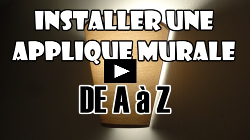 Installer une applique murale lustre plafonnier suspension sur douille dcl - Installer un plafonnier ...