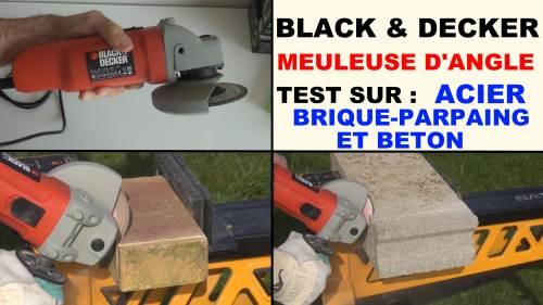 Black decker cd115 presentation et test de la meuleuse d 39 angle black et decker - Meuleuse d angle lidl ...