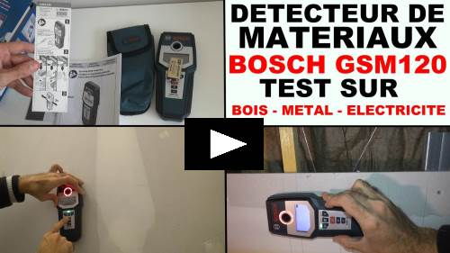 bosch gms120 test du detecteur de materiaux sur mur en ba13 placo plaque de platre. Black Bedroom Furniture Sets. Home Design Ideas