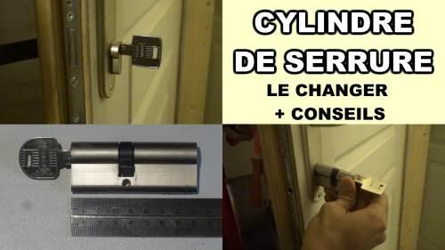 Comment changer un cylindre de serrure de porte barillet - Comment enlever une serrure de porte fermee ...