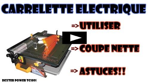 couper carrelage à la carrelette électrique