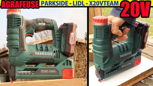 agrafeuse-sans-fil-PARKSIDE-LIDL-PAT-20V-X20V-TEAM-25MM-test-avis-notice