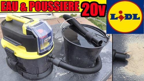 Aspirateur eau et poussière Parkside 20v