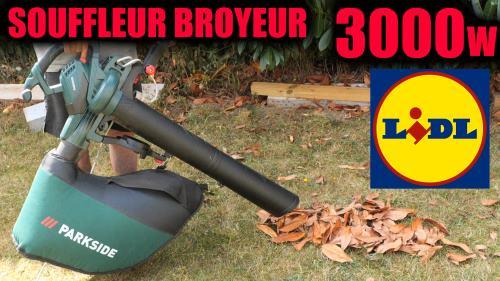 aspirateur souffleur broyeur de feuilles PARKSIDE PLS 3000