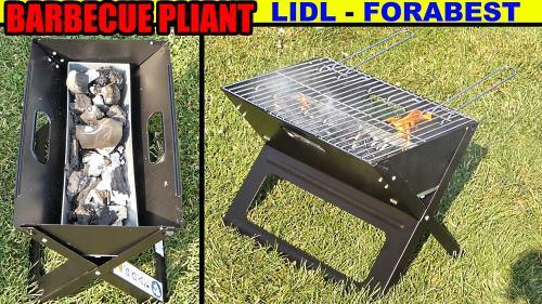 barbecue pliant FLORABEST LIDL, présentation et test