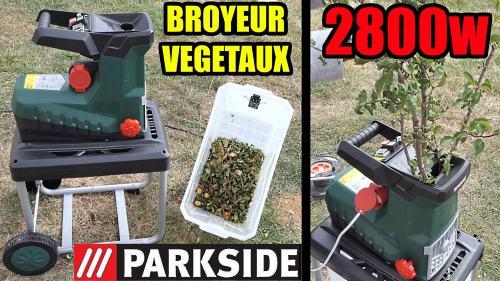 Broyeur de végétaux LIDL PARKSIDE 2800W