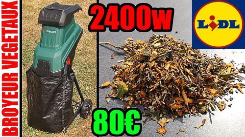 Broyeur de végétaux PARKSIDE 2400W à lames
