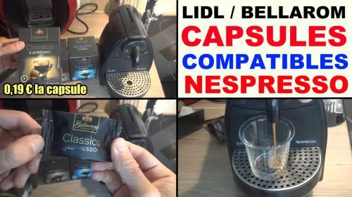 capsules dosettes caf lidl bellarom compatible nespresso. Black Bedroom Furniture Sets. Home Design Ideas
