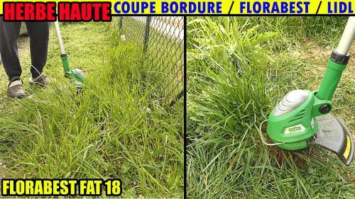 Petit test du coupe bordure FAT 18 sur de l'herbe très haute !