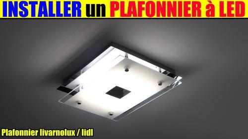 plafonnier led lidl avec variateur de blanc livarnolux 20w test ...